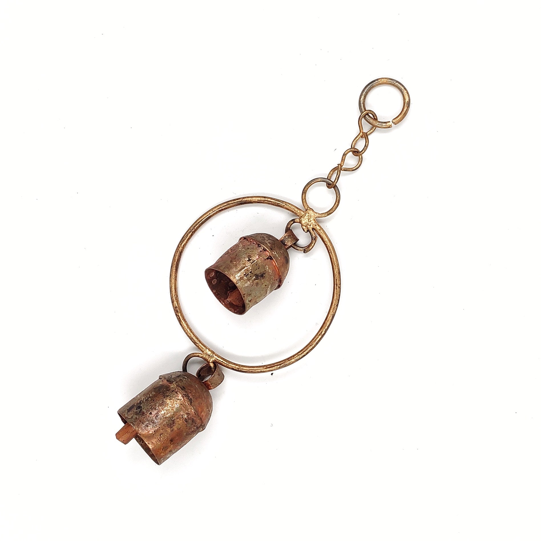 Kutch Copper Coated 2 Bells with one Circular Pattern