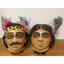 Santhal Couple Chhau Mask