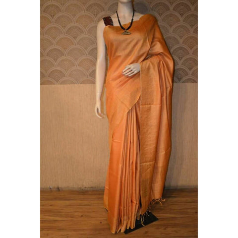 Muga Silk Saree with Zari Border