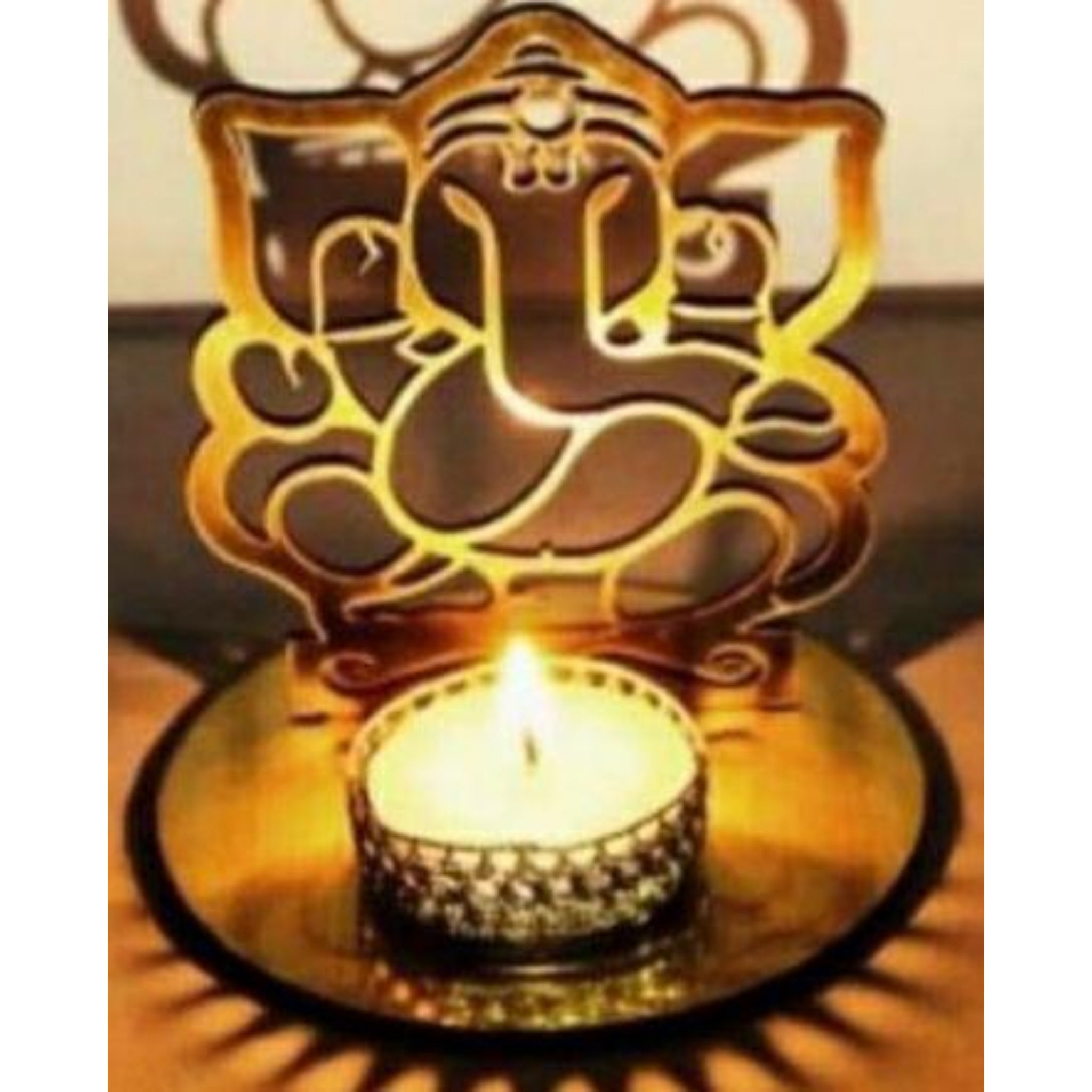 Tea Light Candle Holder - Ganesha