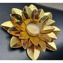 Tea Light Holder - Lotus Design