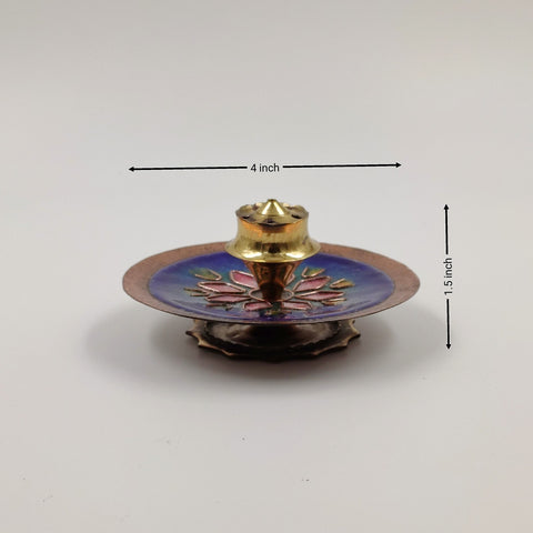 Copper Incense Stick Holder Round
