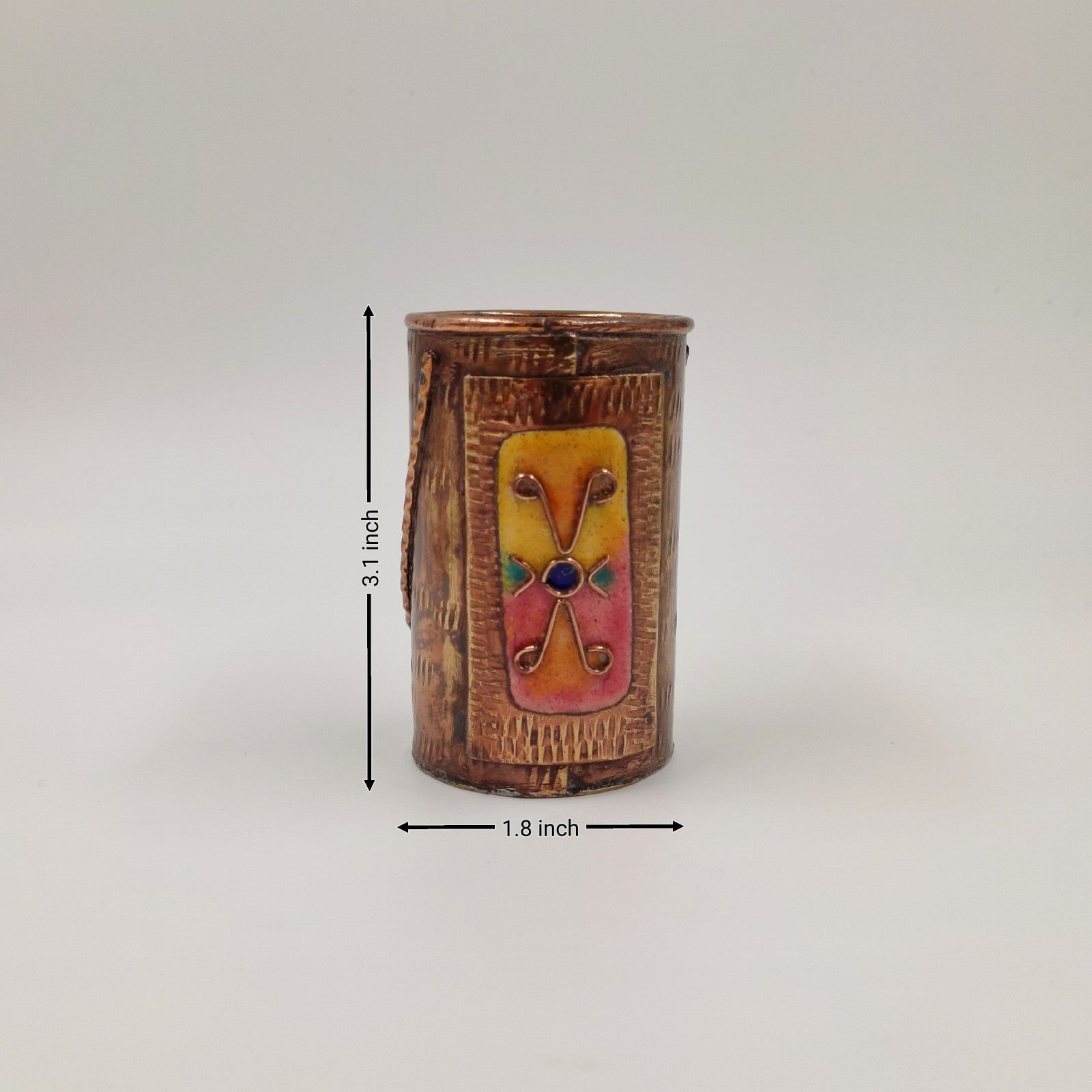 Copper Enamel  - Pencil Stand