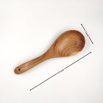 Wooden Oval serving spoon