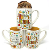 """HAPPY BIRTHDAY"" Yellow Mug"