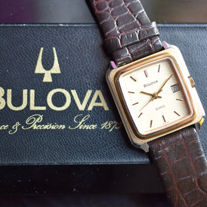 "Ladies NOS Bulova ""Tank"" with Box"