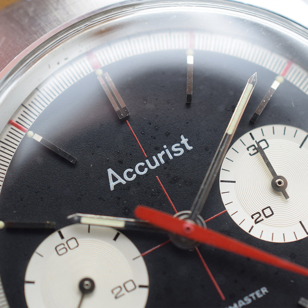 1960s Accurist Shockmaster Chronograph Crosshair Dial