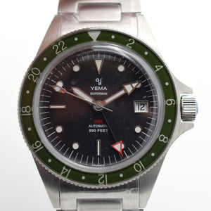 "Yema Superman Heritage GMT Limited Edition ""Khaki Green"" Unworn"