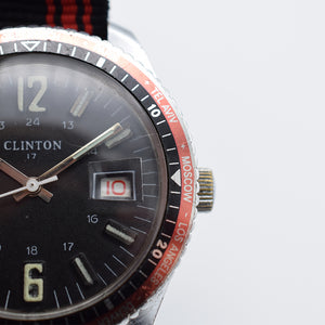 1970s Clinton Diver Style World-Timer