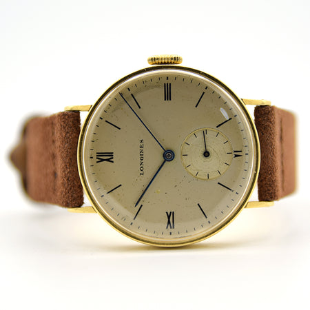 1942 Longines 18ct Yellow Gold Roman Numerals