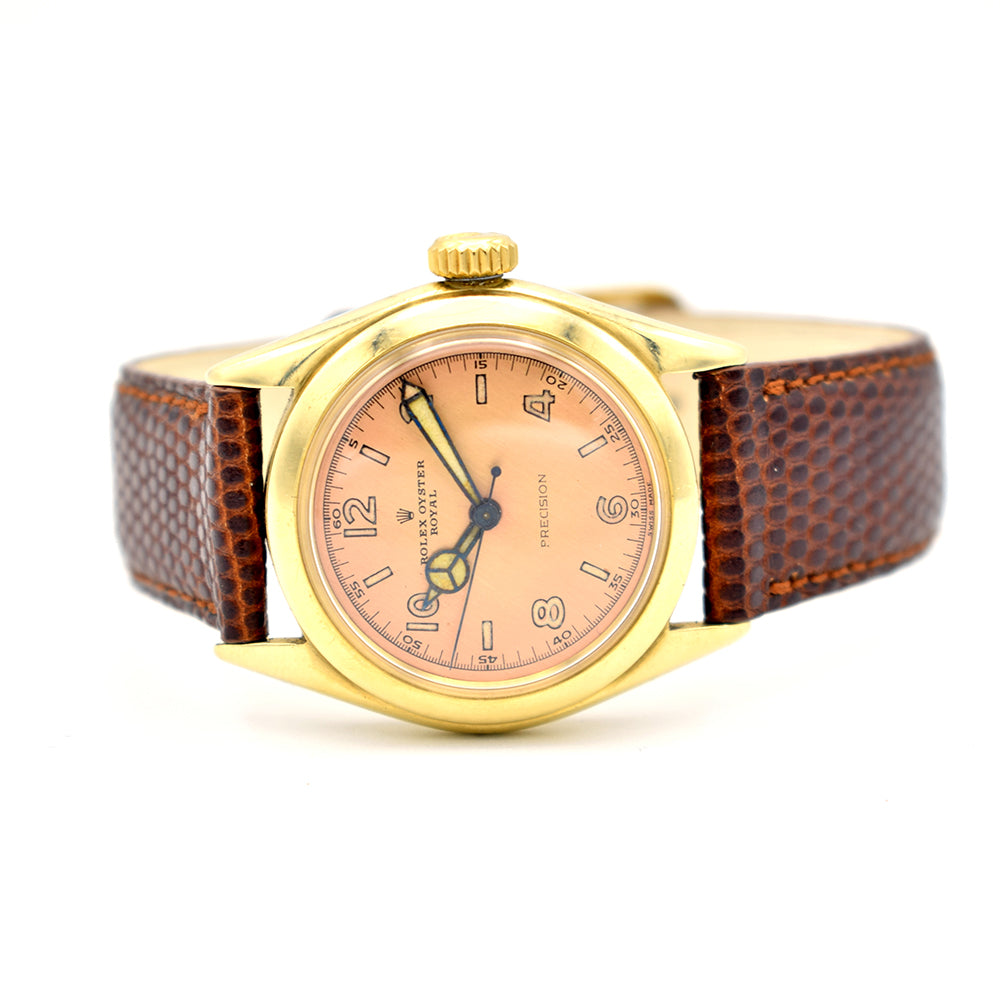 1952 Rolex Oyster Royal Precision Salmon Dial 9ct Gold