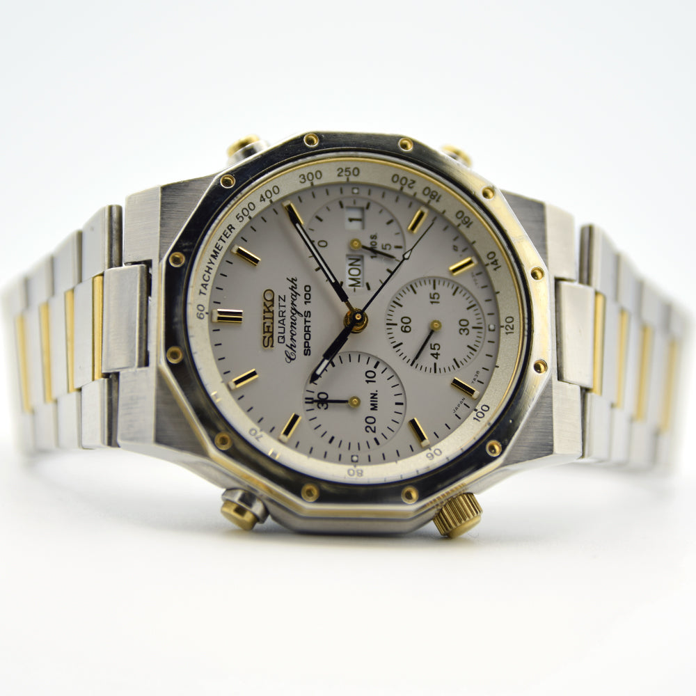 1983 Seiko Sports 100 Chronograph 7A38-7020