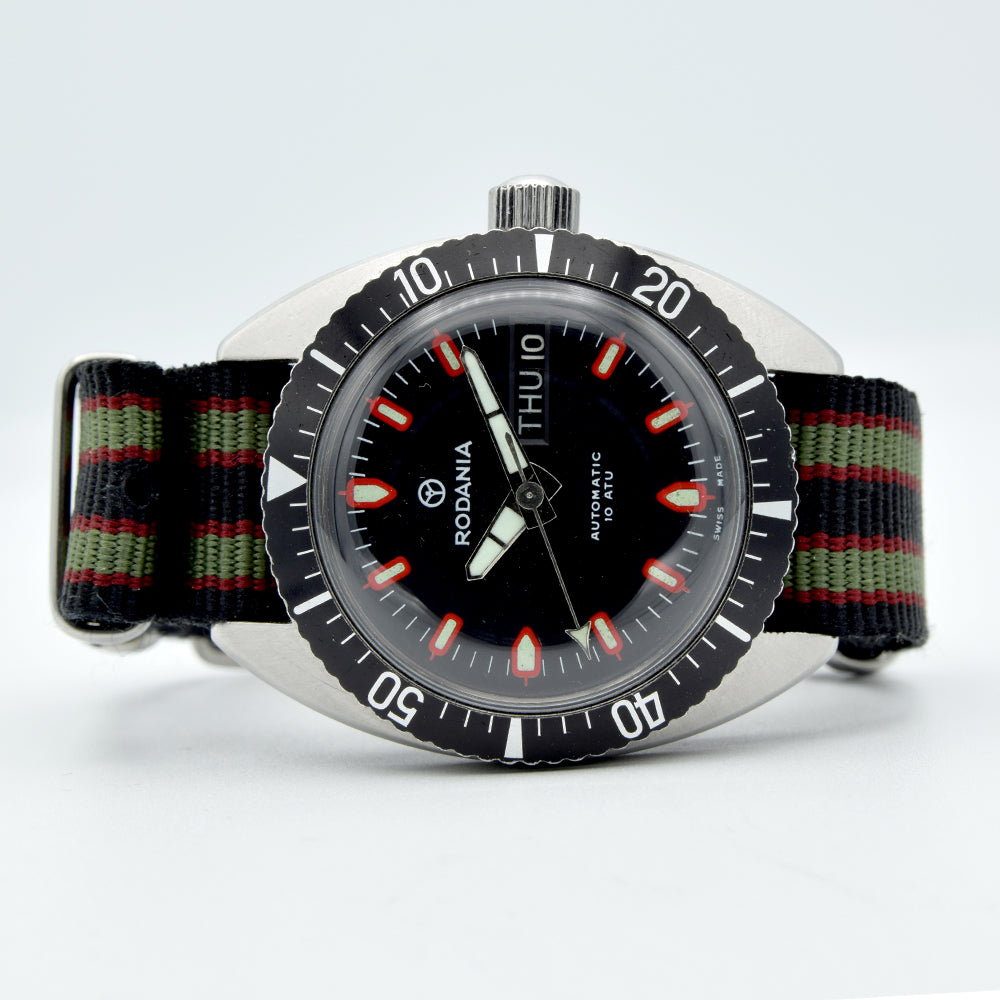 1960s Rodania Automatic 37mm Diver