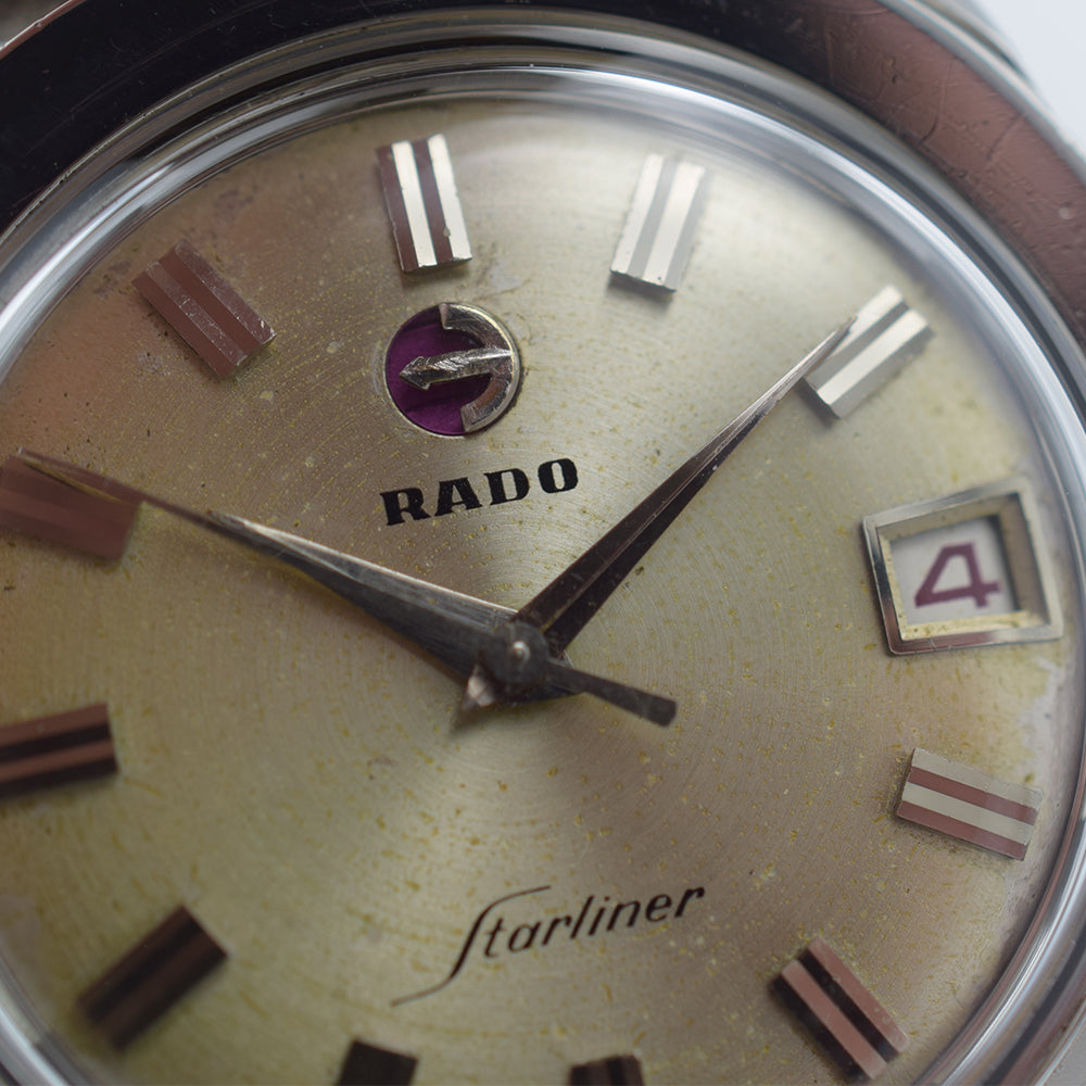 1960s Rado Starliner Automatic Curved Bezel