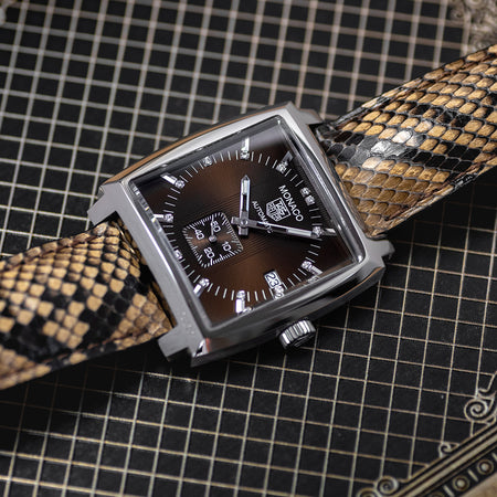 TAG Heuer Monaco Brown Diamond Dial on Python WW2116.FC6217