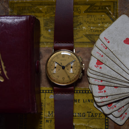 1940s 14ct Gold Zenith Chronograph
