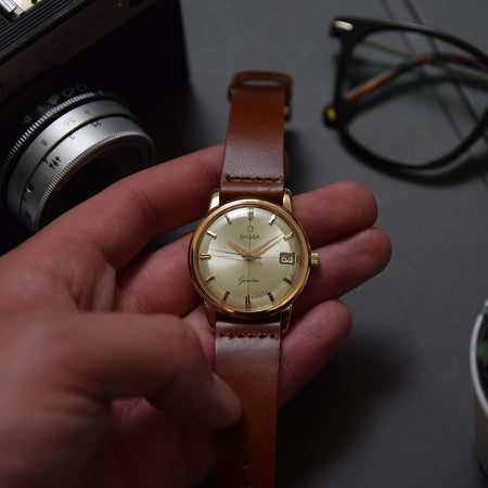 1961 Omega Geneve Crosshair 18ct Pink Gold