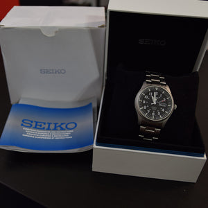 2017 Seiko 5 Sports Military SNZG13J Box & Papers