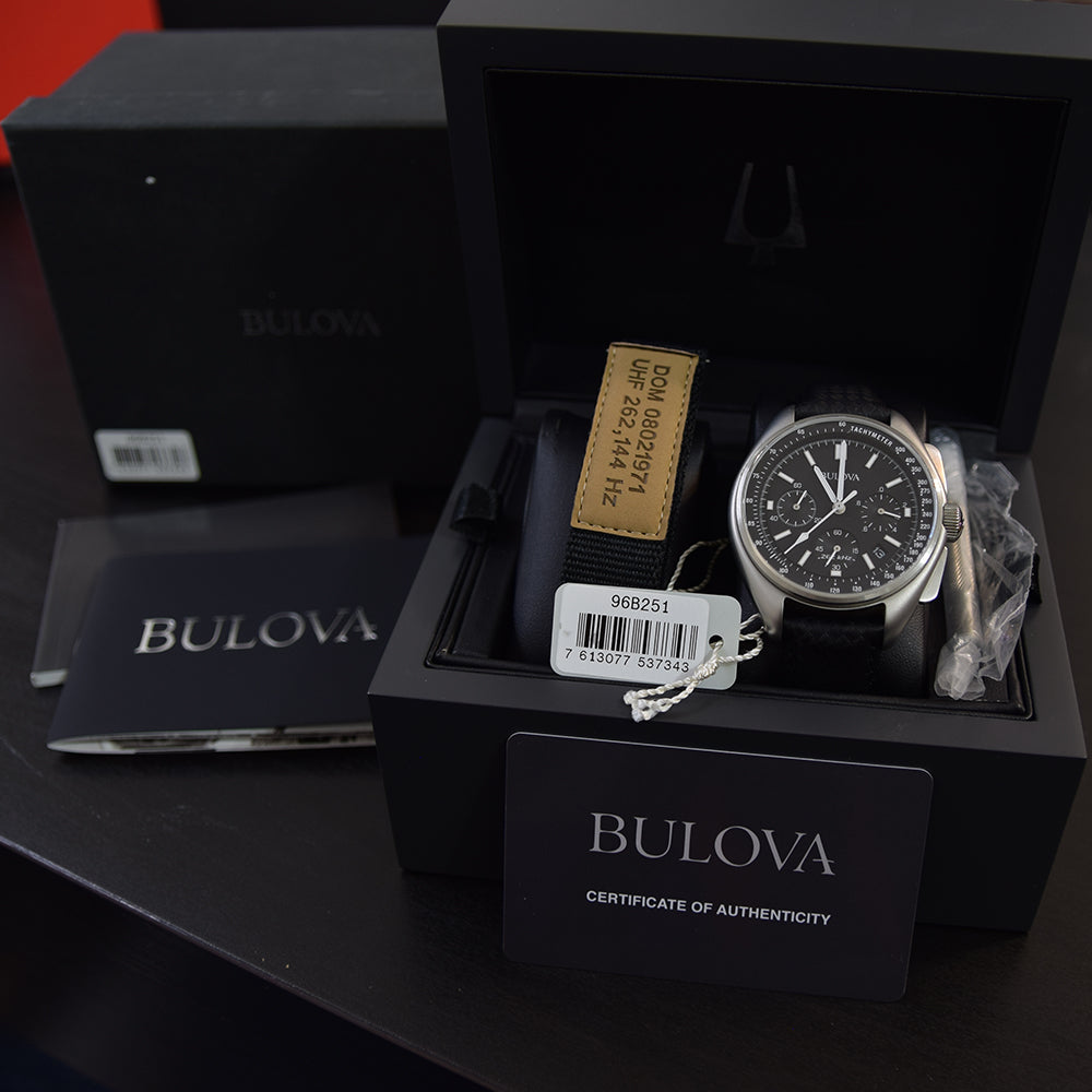 Bulova Lunar Pilot Chronograph 96B251 Box, Papers & Accessories