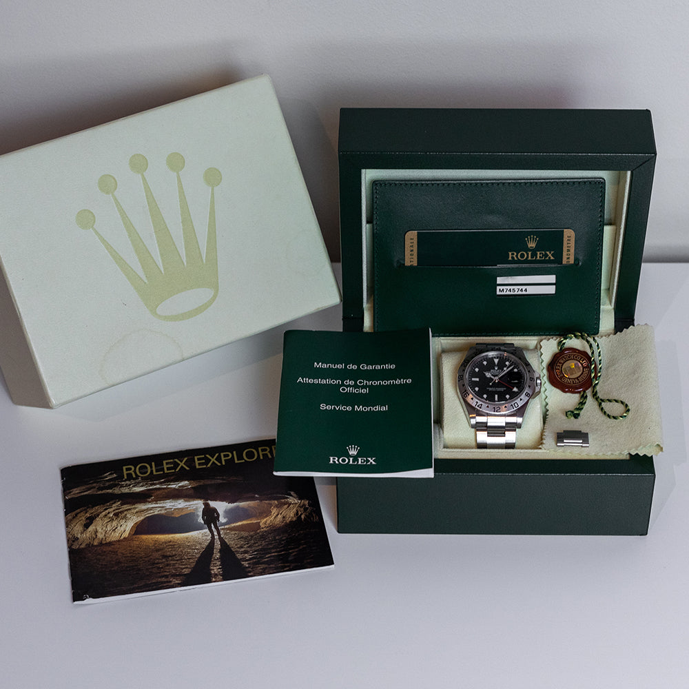 2008 Rolex Explorer II Black 16570 Box & Papers