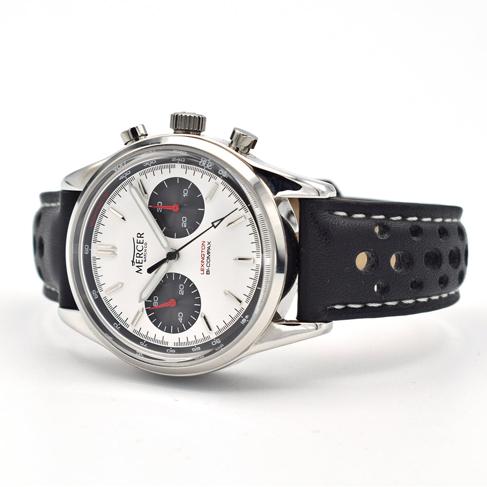 Mercer Lexington Chronograph White/Black