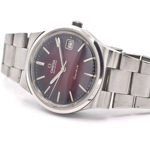 1973 Omega Geneve Rare Red Gradiant Dial