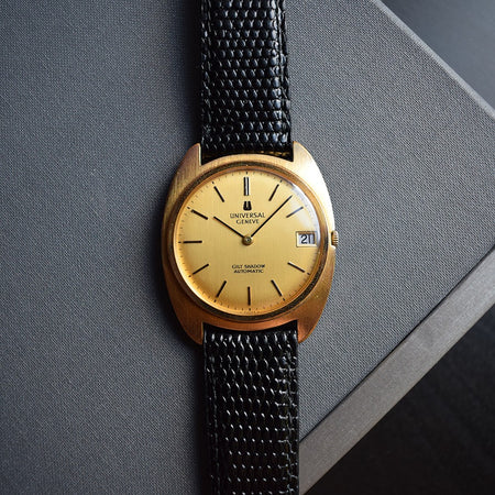 1960s Universal Geneve Gilt Shadow Automatic Ultra Thin