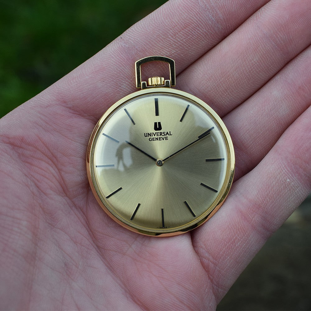 NOS 1970s Universal Geneve Pocket Watch