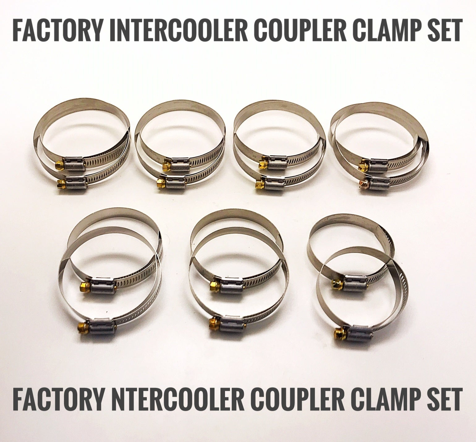 GTR Intercooler Piping Clamp Set