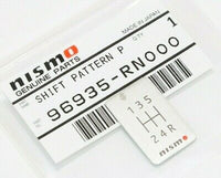 Nismo 5 Speed Shift Pattern Badge