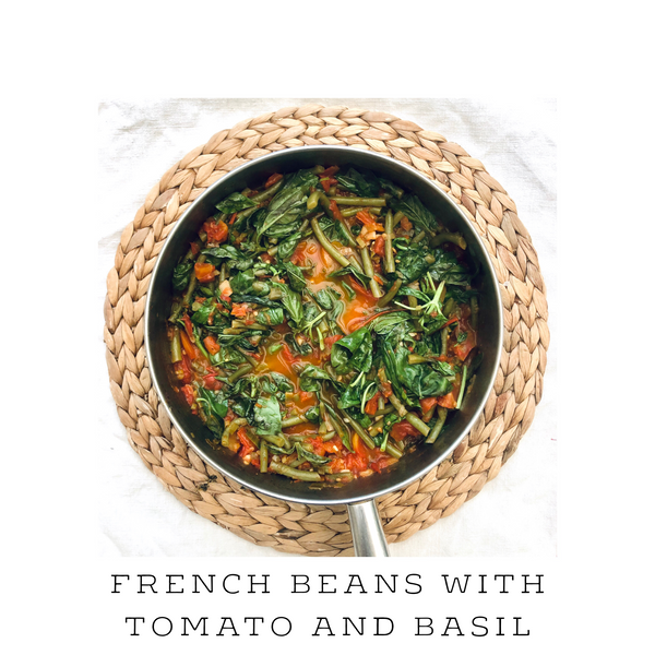 Sautéed French Beans with Tomato and Basil
