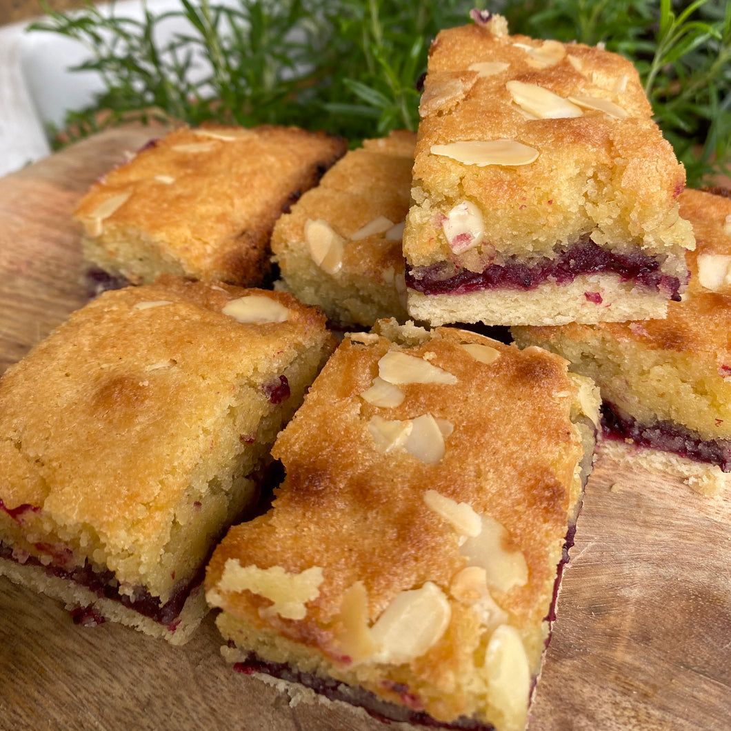 Bakewell Tart with Foraged Sloe and Damson Jam