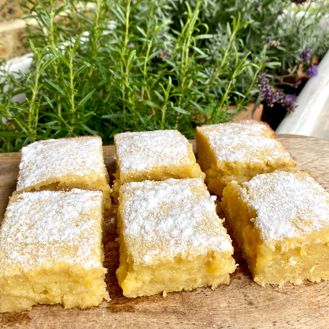 Lemon and Cardamom Slice