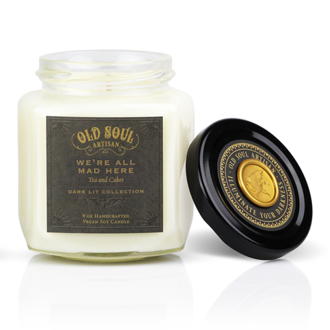 9 Oz We're All Mad Here Soy Candle - Literature Inspired