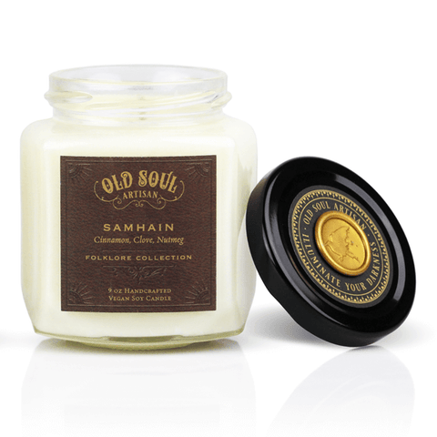 9 Oz Samhain Soy Candle - Fall Folklore Inspired Gift