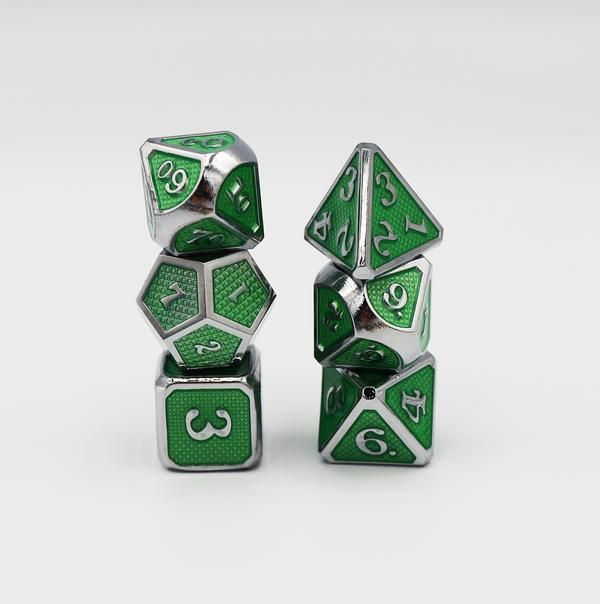 Emerald Mesh Dice Set