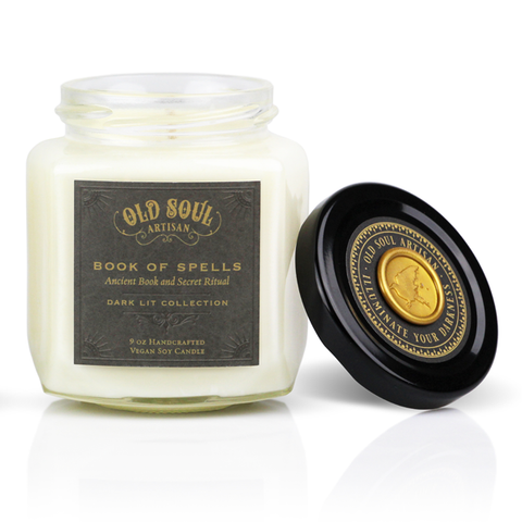 9 Oz Book Of Spells Soy Candle - For Book Lovers