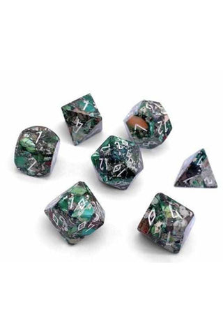 norse-foundry-gemstone-dice-set-pyrite-green-norse-foundry-thegamersden.com