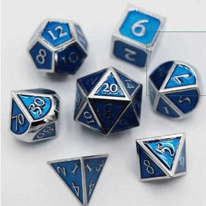silver-with-tanzanite-polyhdral-dice-set-foam-brain-thegamersden.com