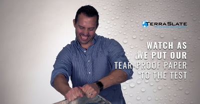 Watch As We Put Our Tear-Proof Paper To The Test