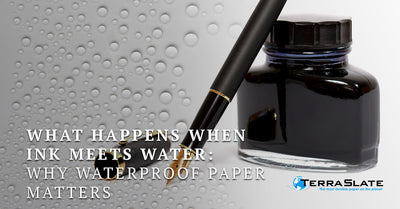 What Happens When Ink Meets Water: Why Waterproof Paper Matters