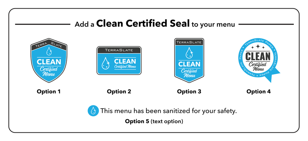 Certified Clean Menu Options