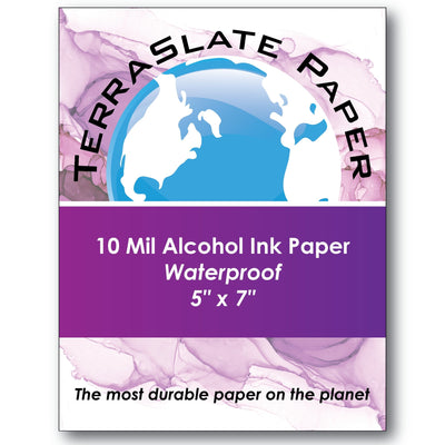 "10 Mil Alcohol Ink Art - 5"" x 7"" - TerraSlate Waterproof Paper"