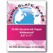 "10 Mil Alcohol Ink Art - 8.5"" x 11"" - TerraSlate Waterproof Paper"
