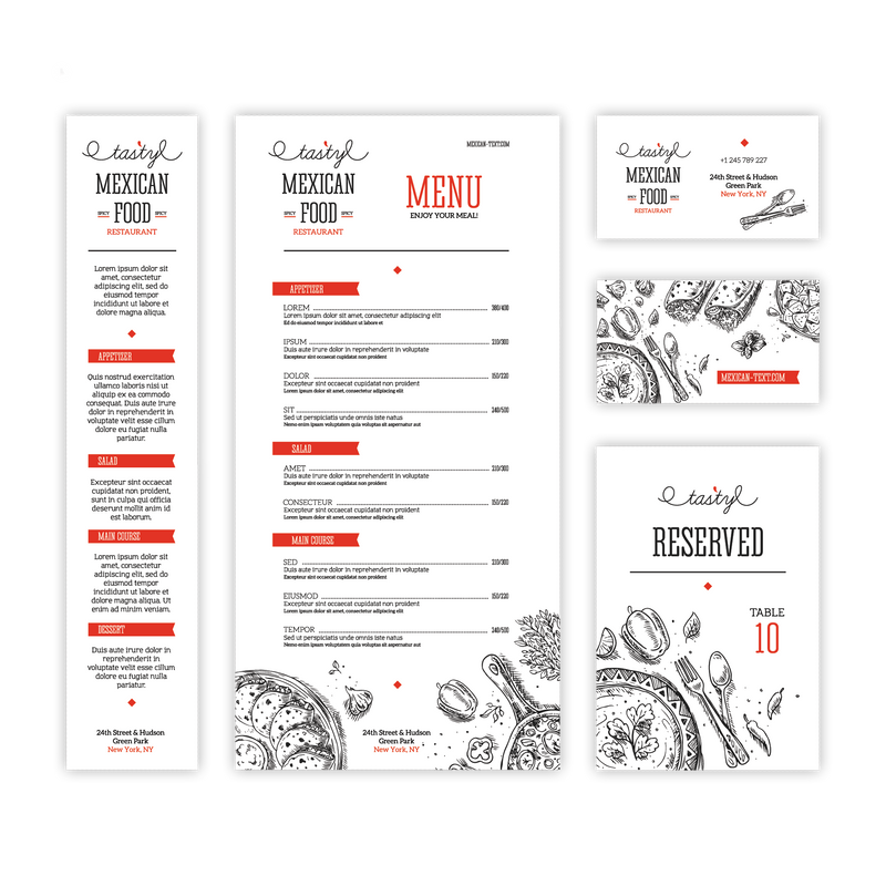 Complete Menu Design - TerraSlate Waterproof Paper