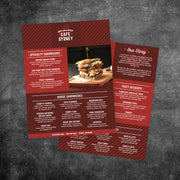 "Modern Cafe Menu Template 8.5"" x 11"""