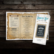 "Beach Bar & Grille Menu Template 11"" x 17"" Tri-Fold"