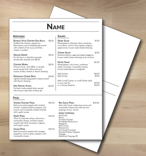 "Classic Black & White Template 8.5"" x 11"" - TerraSlate Waterproof Paper"