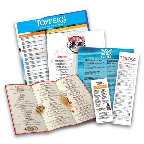 Custom Restaurant Menu Sample Pack - TerraSlate Waterproof Paper