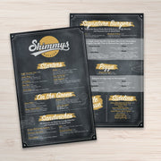 "Waterproof Flat Table Menus 11"" x 17"" - TerraSlate Waterproof Paper"